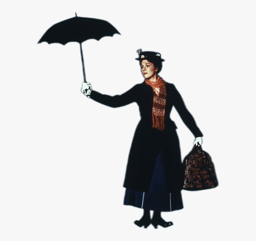 Julie Andrews As Mary Poppins - Mary Poppins Julie Andrews Png, Transparent Clipart