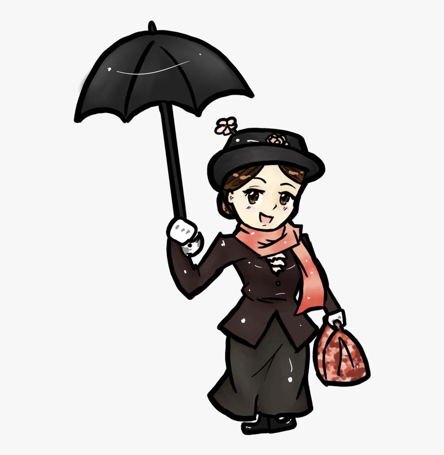 Mary Poppins Animated Cartoon Drawing Film Musical - Mary Poppins Cartoon Drawing, Transparent Clipart