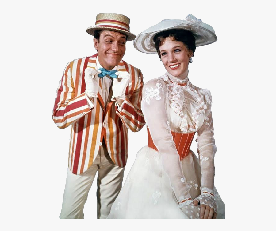 Transparent Mary Png - Mary Poppins And Bert, Transparent Clipart