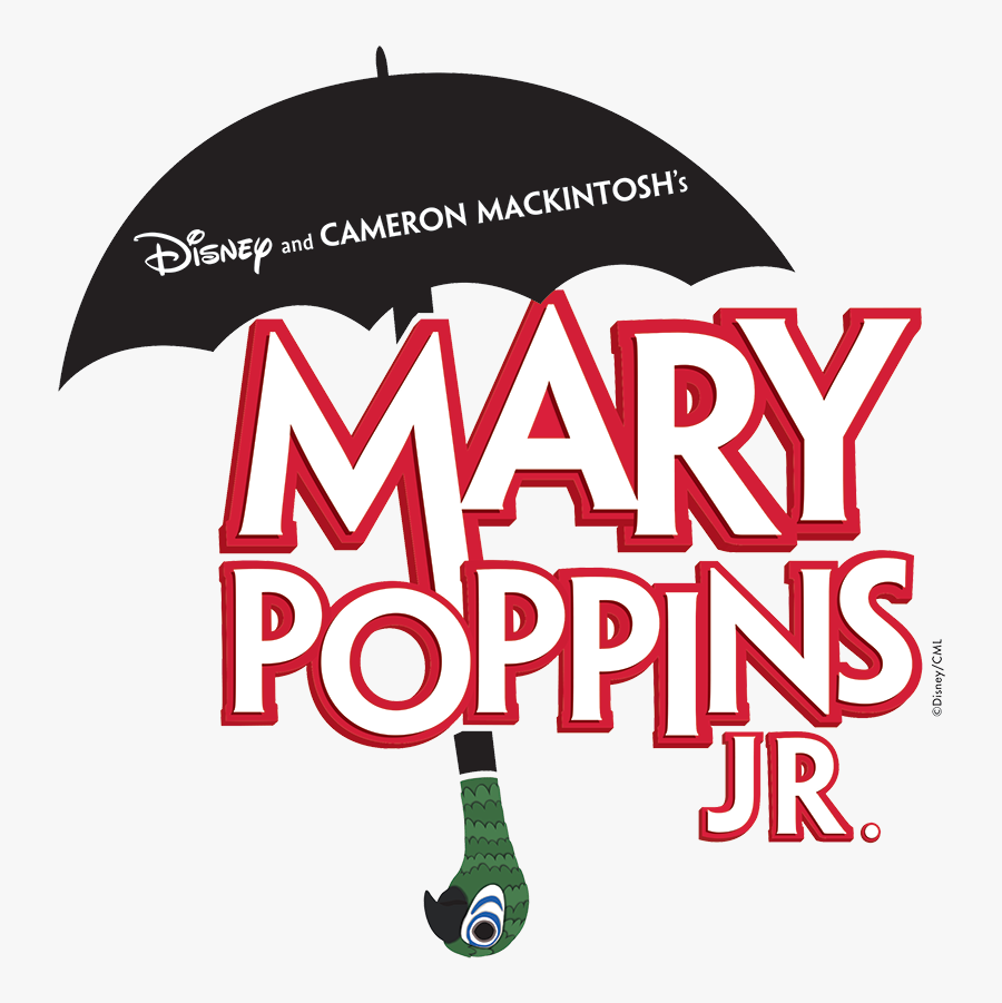 Mary Poppins Jr Logo, Transparent Clipart