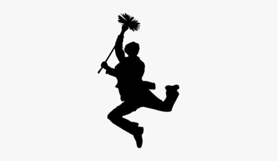 Mary Poppins Chimney Sweep Silhouette - Mary Poppins Silhouette, Transparent Clipart