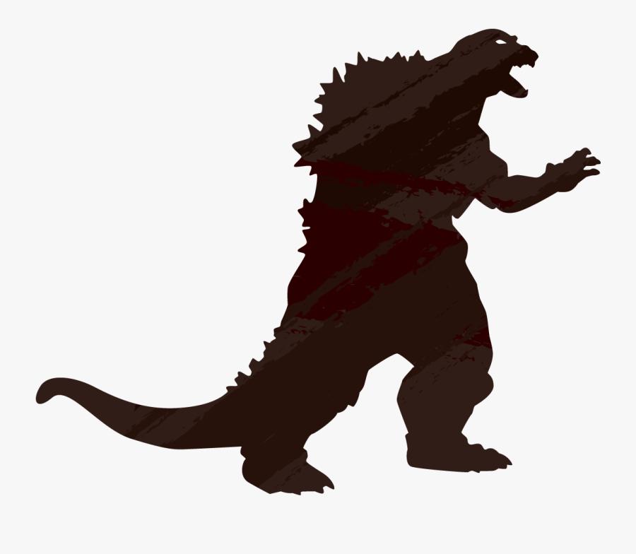 Godzilla Clipart Silhouette - Godzilla Vs Spacegodzilla Action Figure, Transparent Clipart