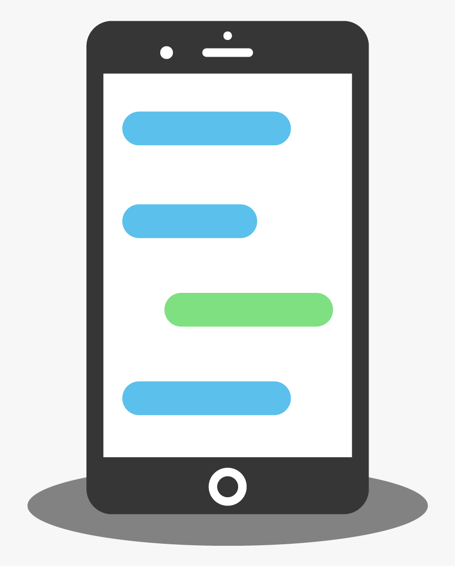 Smart Phone Texting - Phone Texting Png, Transparent Clipart