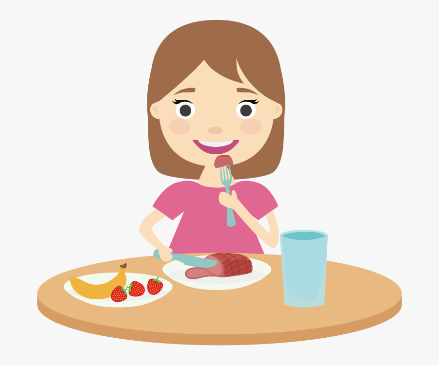 Lunch Vector - Eating Healthy Foods Clipart, Transparent Clipart