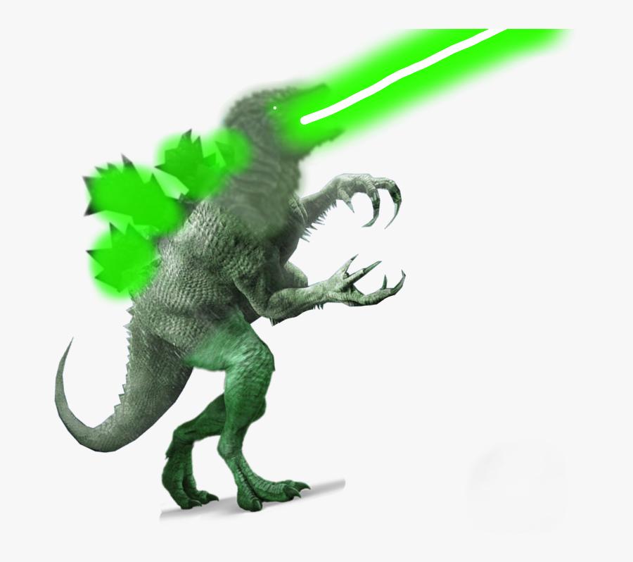 Atomic Breath Godzilla Transparent Background Clipart - Action Figure, Transparent Clipart