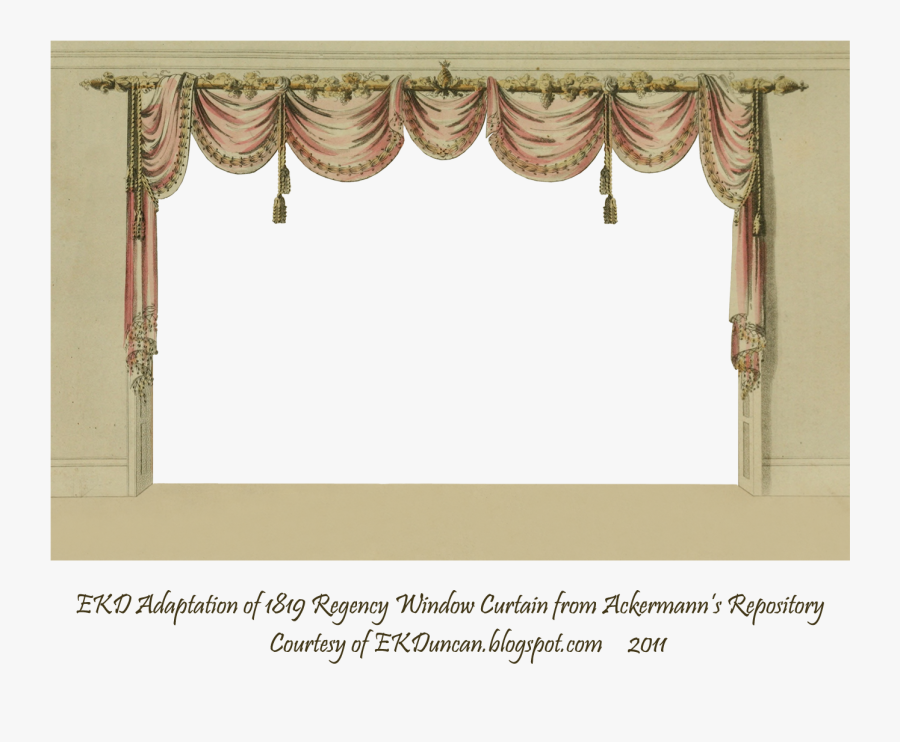 Png Free Library Curtain Clipart Curtain Frame - Background Curtains Window Hd, Transparent Clipart