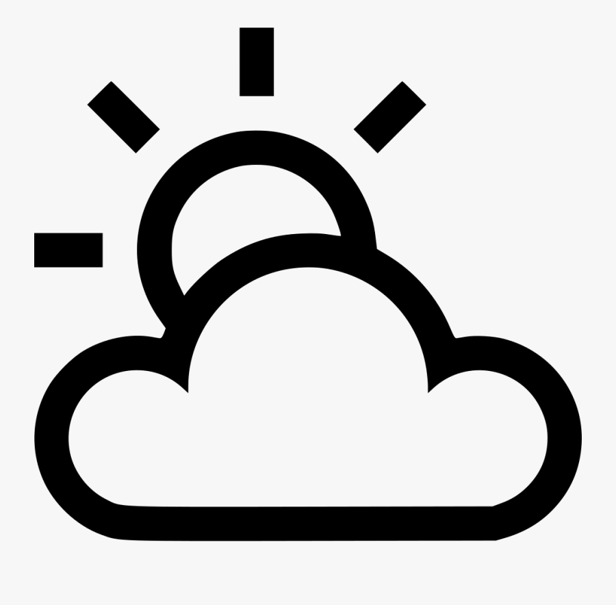 Transparent Cloudy Day Clipart - Sunny And Cloudy Icon, Transparent Clipart
