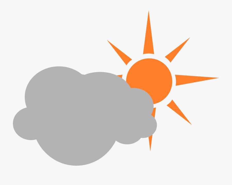 Transparent Sun Clip Art - Partly Cloudy Symbol Transparent, Transparent Clipart
