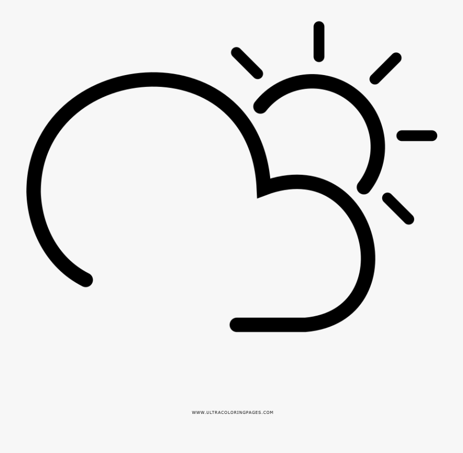 Transparent Partly Cloudy Clipart - Clima Icon, Transparent Clipart