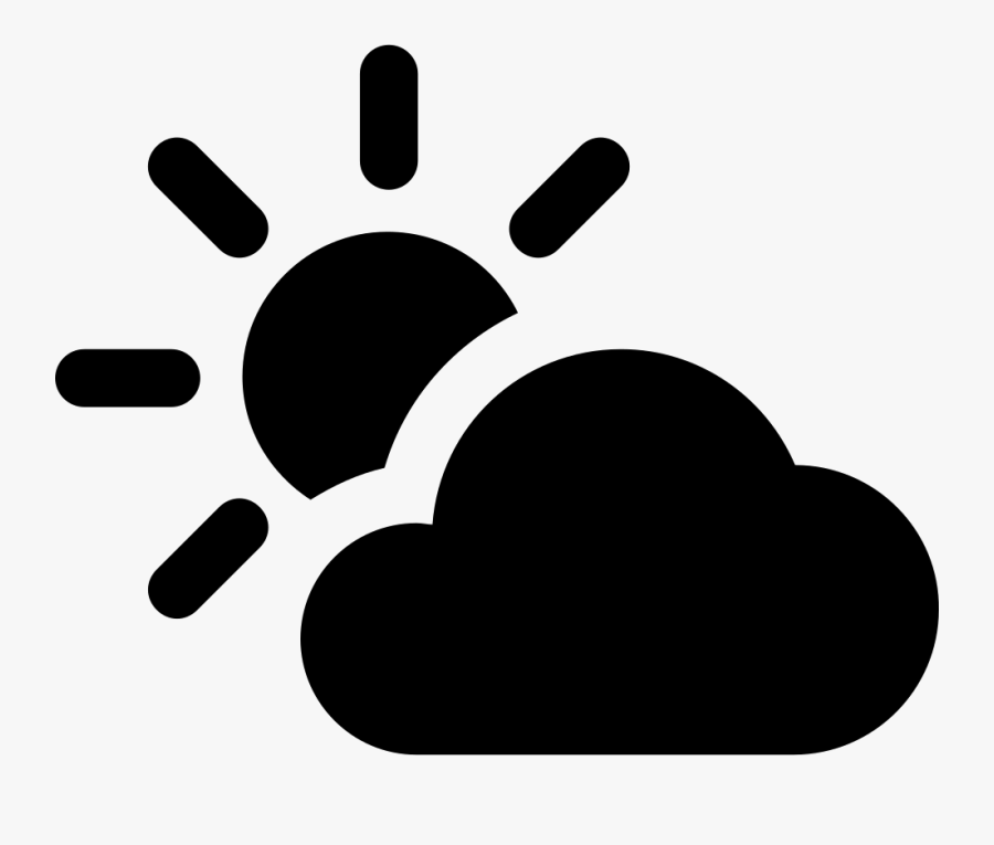 Partly Cloudy F - Partly Sunny, Transparent Clipart