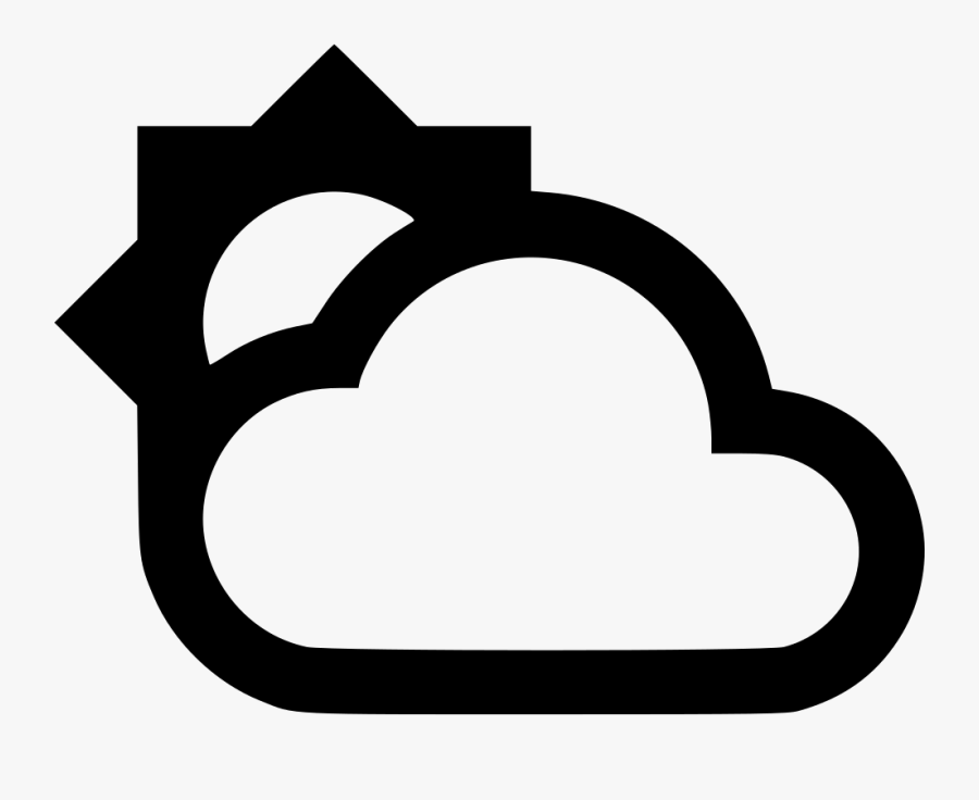 Partly Cloudy - Icon, Transparent Clipart