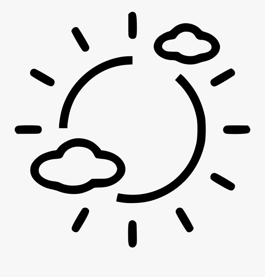 Day Partly Cloudy - Icon, Transparent Clipart
