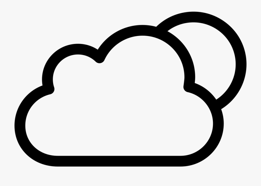 Night Weather Symbol Of - Cloud Black And White Png, Transparent Clipart