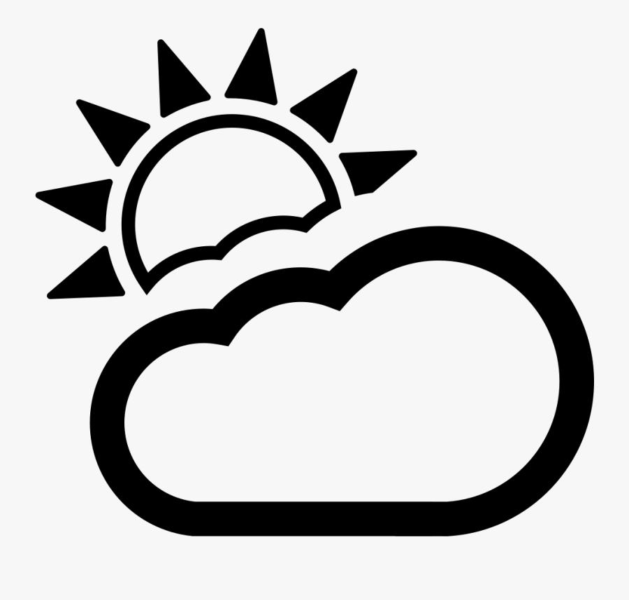 Partly Cloudy - Icone Symbole Pogody Dla Dzieci Do Druku, Transparent Clipart