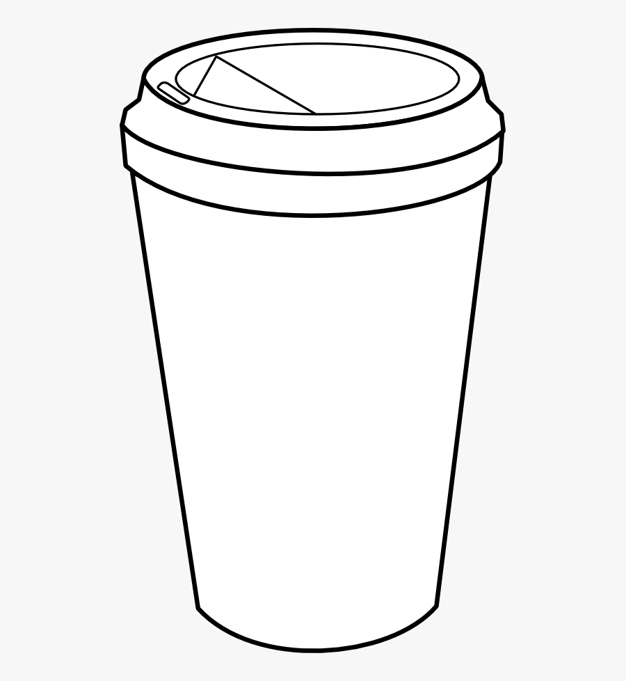 Coffee Black And White Clipart - Go Cup Of Coffee Drawing, Transparent Clipart