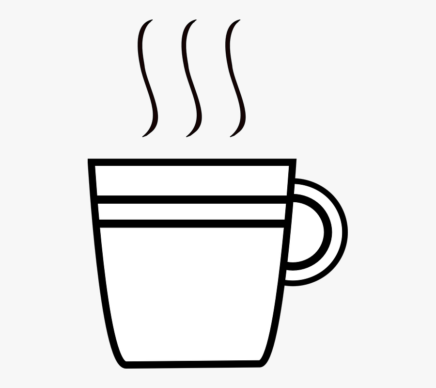 Cup, Coffee, Black, Cafe, Drink, Espresso, Hot - Cup Object Clipart Black And White, Transparent Clipart
