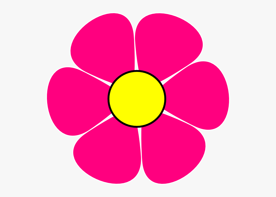 Pink And Yellow Flowers Clip Art, Transparent Clipart