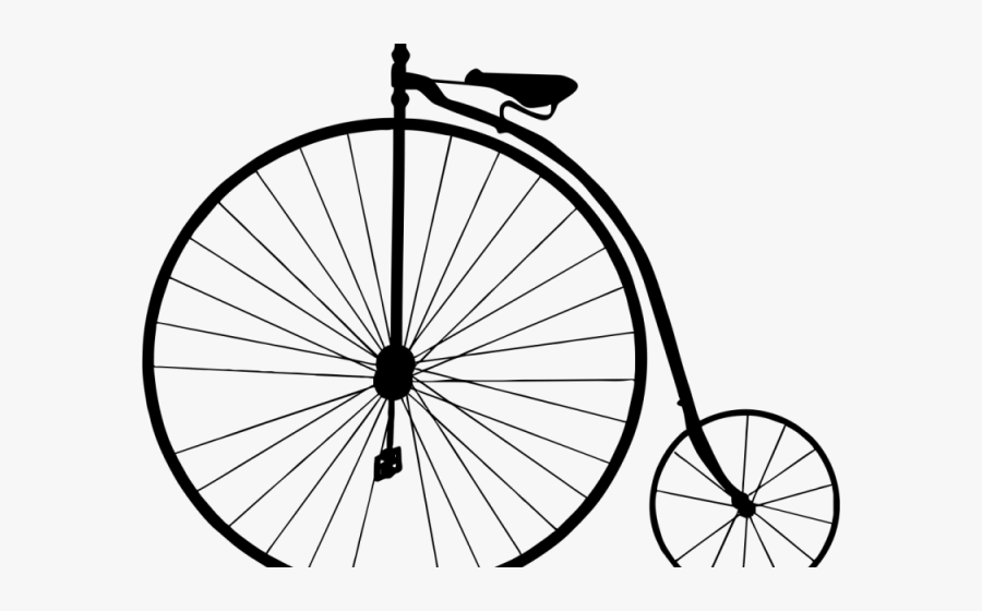 Drawn Bike Old Fashioned - Penny Farthing Bicycle Clipart, Transparent Clipart