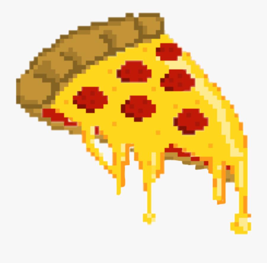 Transparent Cheese Pizza Clipart - Pizza Slice Pixel Art, Transparent Clipart