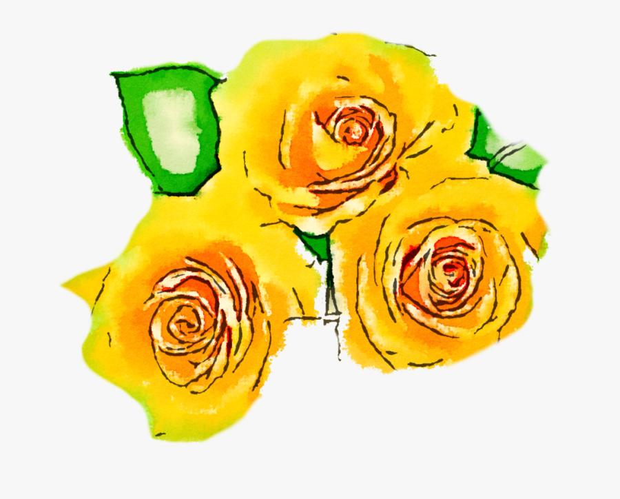 Watercolour Yellow Flower Png, Transparent Clipart