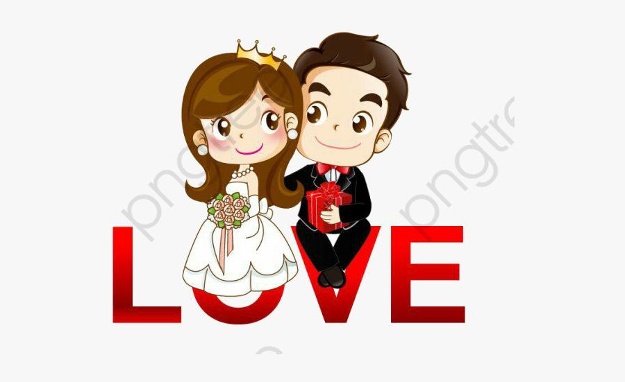 Cartoon Couple Cartoon Wedding Couple Png Free Transparent Clipart Clipartkey