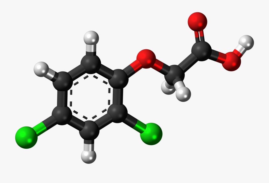 Chemical Structure Of 2 4 Dichlorophenoxyacetic Acid, Transparent Clipart