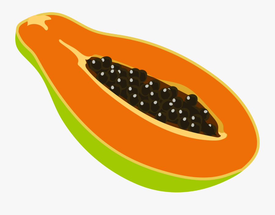 Papaya Clipart Las - Papaya Fruit Clip Art, Transparent Clipart