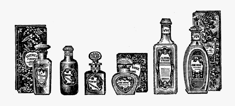 Vintage Perfume Bottle Illustration, Transparent Clipart