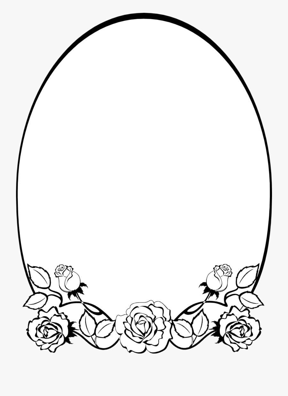 Free Orders Frames - Flowers Border Frames Black And White, Transparent Clipart