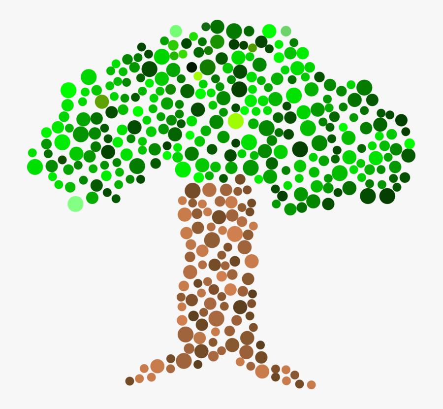 Leaf,symmetry,area - Clip Art Dot, Transparent Clipart