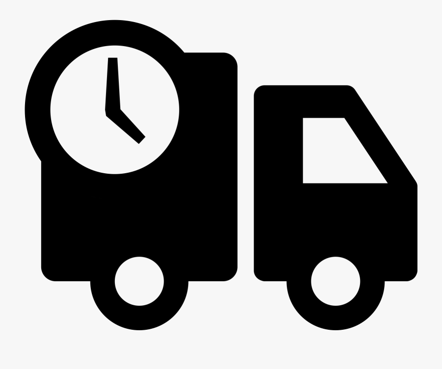 A Basic Outline Of A Delivery Type Truck That Has The - Shopping Delivery Icon, Transparent Clipart