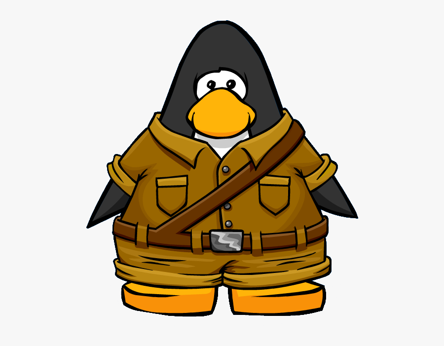 Sienna Explorer Outfit Player Card - Penguin With A Scarf, Transparent Clipart