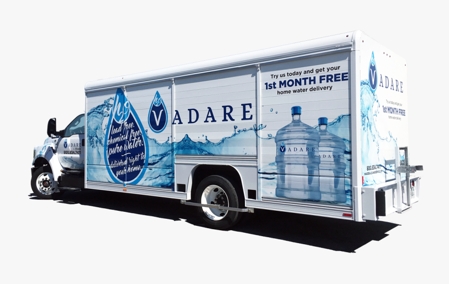 We Want To Help You And Your Families Battle Cancer - Bottled Water Delivery Truck, Transparent Clipart