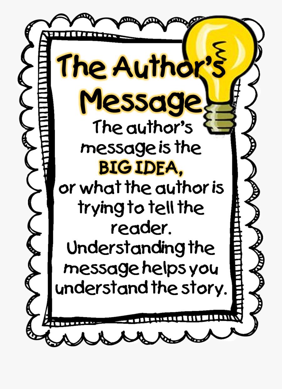 Clip Art Literary Clipart - Author's Message Clip Art, Transparent Clipart