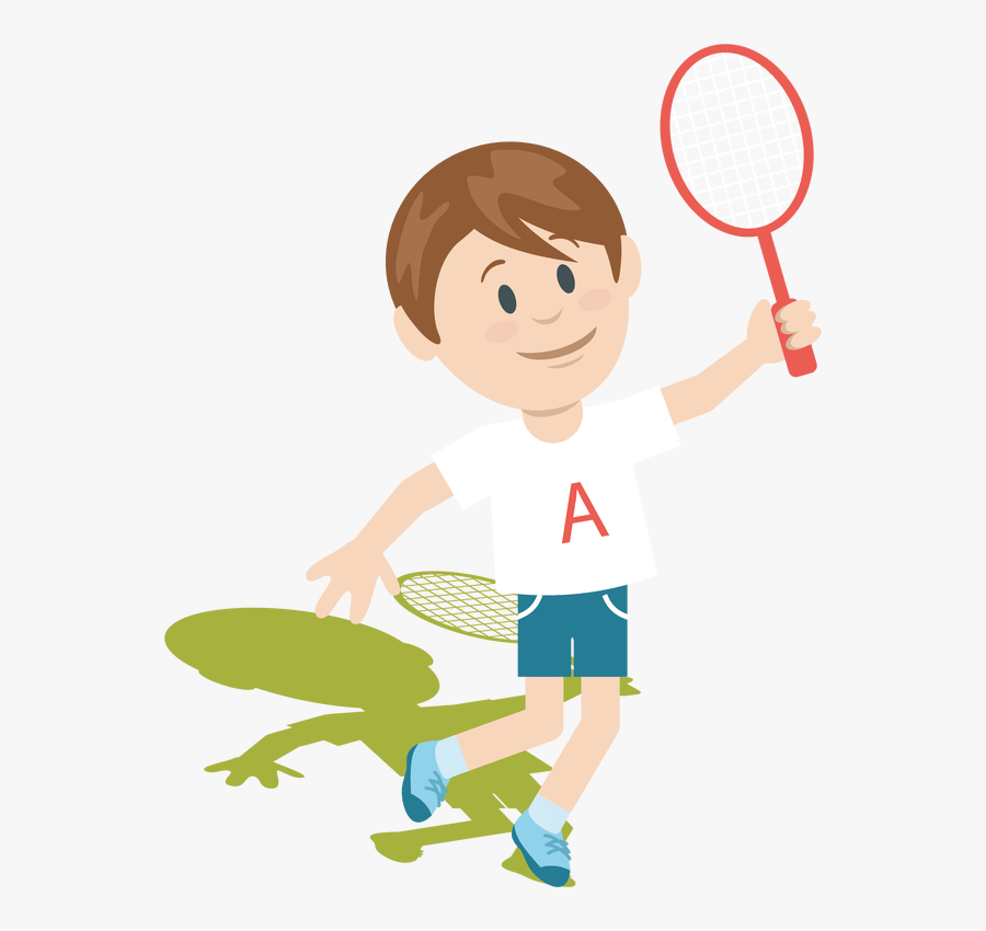 Badminton Players Clip Art - Cartoon Png Clipart Playing Badminton Clipart, Transparent Clipart