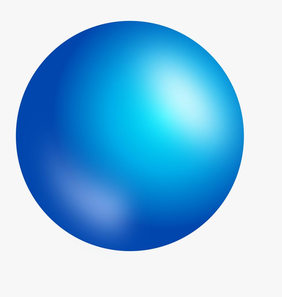 Clip Art Shaded Sphere - Blue Sphere Transparent Background, Transparent Clipart
