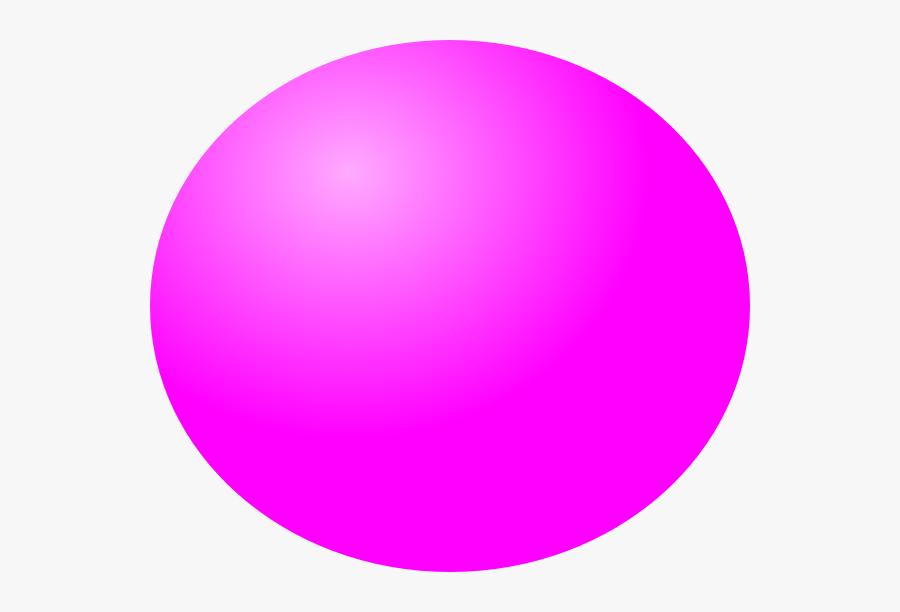 Transparent Sphere Shape Clipart - Pink Ball Clipart Png, Transparent Clipart