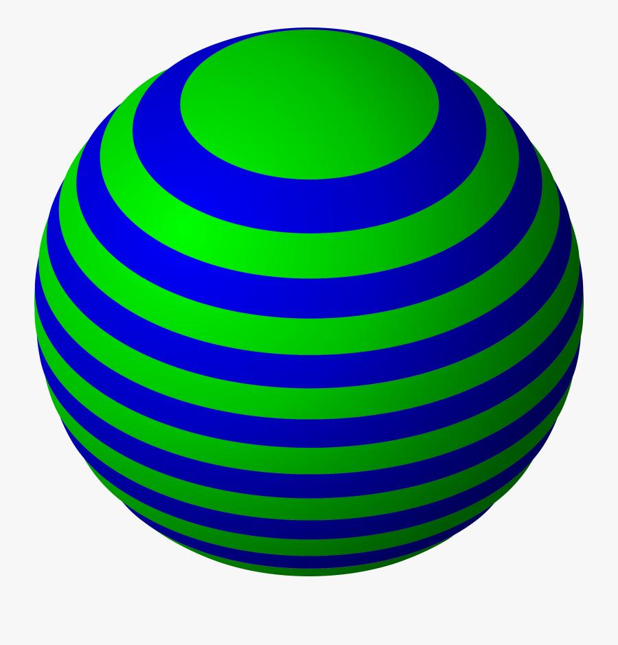 Ball Clipart Sphere - Striped Ball Clipart, Transparent Clipart