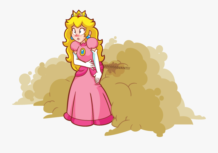 Fat Princess Peach Fart - Sexy Princess Peach Farts, Transparent Clipart