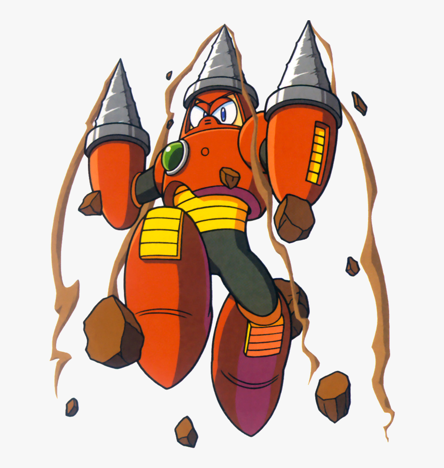 Drill Man Is One Of The Eight Robot Masters From Mega - Mega Man Drill Man, Transparent Clipart
