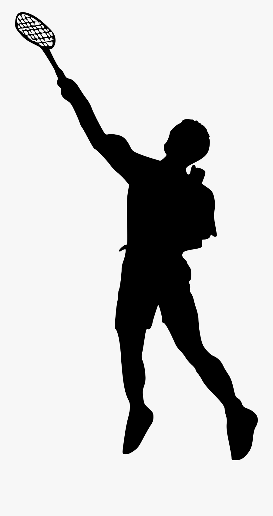 Png File Size - Playing Badminton Silhouette Png, Transparent Clipart