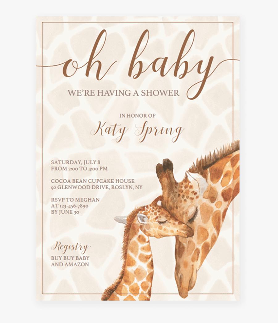 Clip Art Invitation Template Gender Neutral - Gender Neutral Baby Shower Invite Template, Transparent Clipart