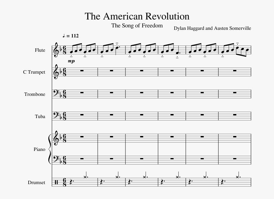 Transparent American Revolution Clipart - Sheet Music, Transparent Clipart