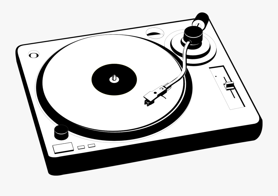 Vintage Turntable Clipart - Turntable Clipart, Transparent Clipart