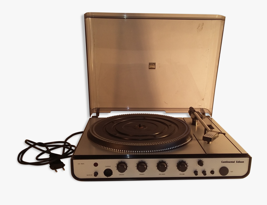 Continental Edison Vintage Record Player Laptop - Retro Record Player Png, Transparent Clipart