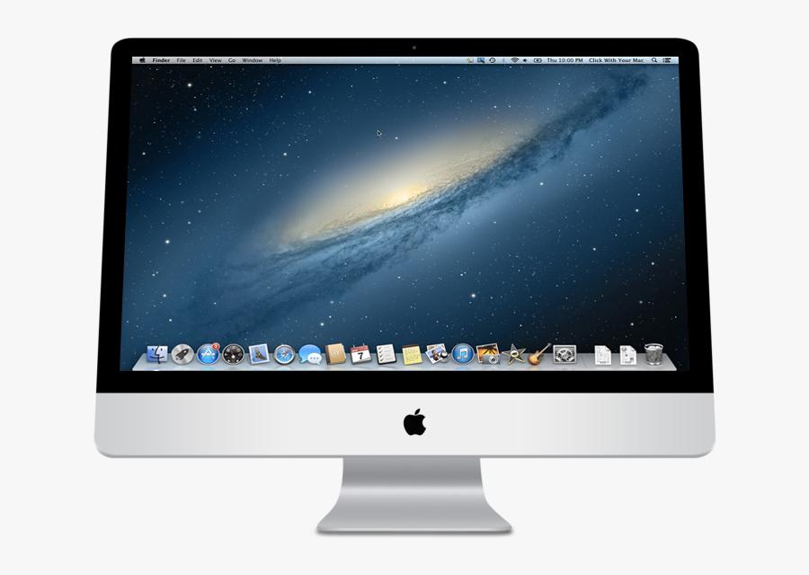 Show Clipart Mac Computer Screen - Mac Computer Desktop Screen, Transparent Clipart