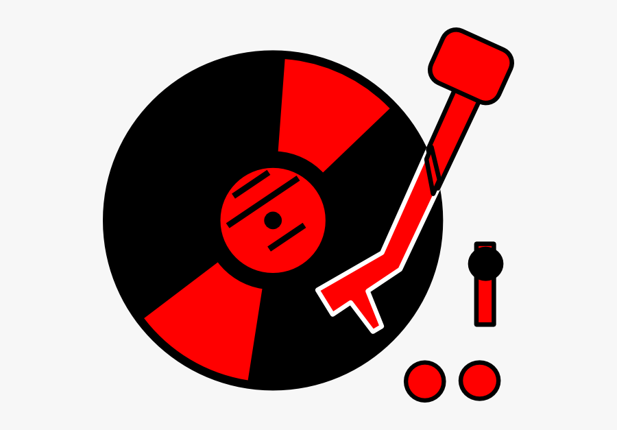 Turntable Red Clip Art At Clker - Record Player Clipart Png, Transparent Clipart