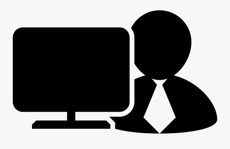 Transparent Computer Monitor Clipart - Person Computer Icon Png, Transparent Clipart