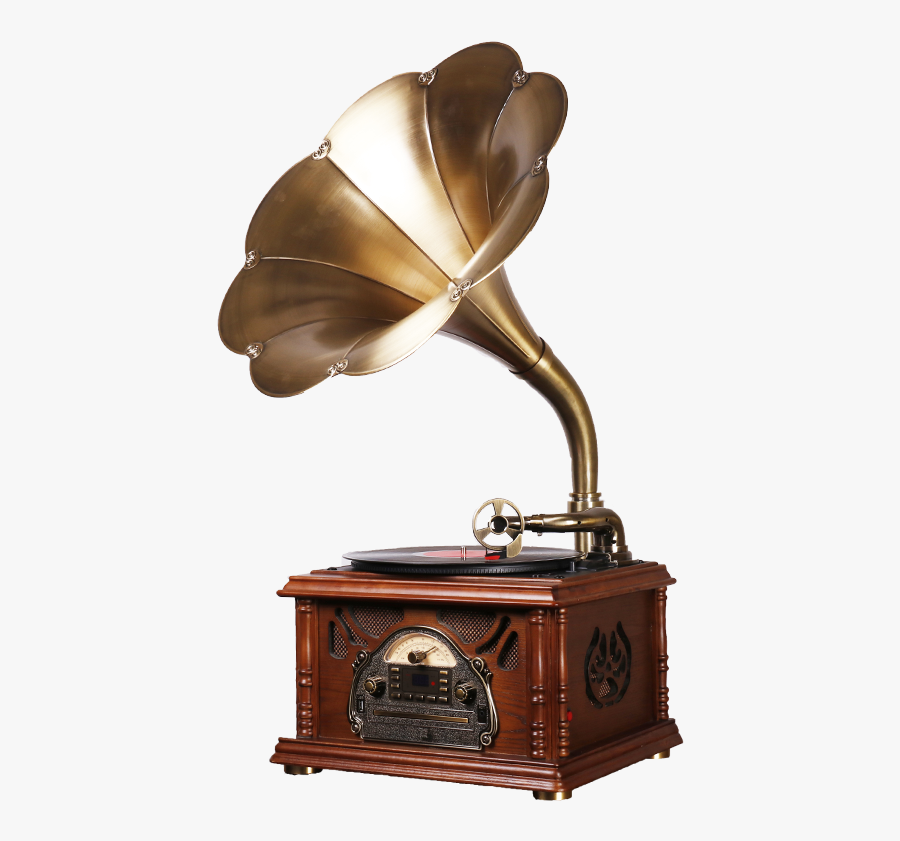 Transparent Phonograph Png - Old Record Player With Big Speaker, Transparent Clipart