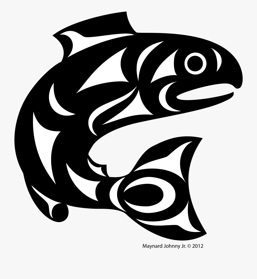 Freeuse Black - Pacific Northwest Salish Art, Transparent Clipart